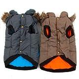 XUJW-PET, Haustier Hund Jacke Hoodie Winter warme Mäntel für mittlere oder große Pet ( Color : Brown , Size : L )
