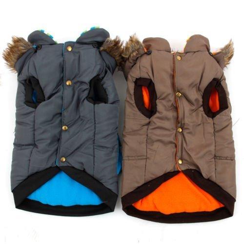 und Jacke Hoodie Winter warme Mäntel für mittlere oder große Pet ( Color : Brown , Size : L ) (Niedliche Chihuahua-kostüme)