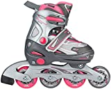 Nijdam Fille Rollers Soft Bateau réglable 34-37 Anthrazit/Silber/Fuchsia