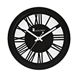 #10: Solimo 11.25-inch Wooden Wall Clock (Silent movement, Black Frame)