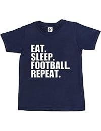 Fancy A Snuggle Eat. Sleep. Football. Repeat. Footy Kids Boys / Girls T-Shirt