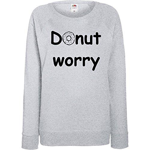 TRVPPY - Sweat Pull, modèle Donut Worry - Femme, différentes tailles et couleurs Gris