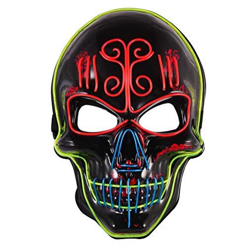 LED Leuchten Maske,Maske Draht Glühende Maske Maskerade