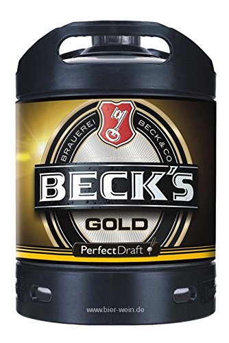 Beck\'s Gold Perfect Draft (1 x 6l) inkl. 5,00 Euro Pfand MEHRWEG