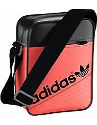 Adidas Mini sacoche à bandoulière Design perforé Style urbain et sportif Unisexe Rouge/noir