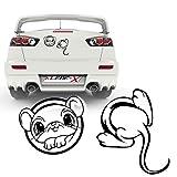 Maus im Loch Autoaufkleber Sticker Folienplot Tiermotive lustige Cartattoos Mouse |KB808