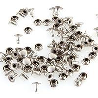 50X Apliques Remaches Metal 8mm Redondo Tachuelas Bolsa/Calzado/Guante