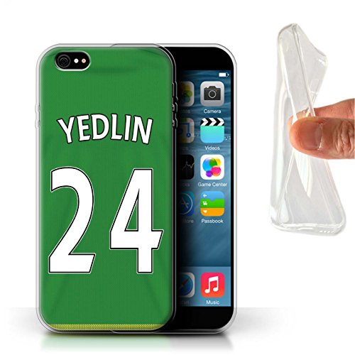 Offiziell Sunderland AFC Hülle / Gel TPU Case für Apple iPhone 6+/Plus 5.5 / Mannone Muster / SAFC Trikot Away 15/16 Kollektion Yedlin