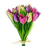 Floristrywarehouse Tulpen, künstlich, Rosa/Violett, 15 Stück
