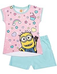 Minions Despicable Me Chicas Pijama mangas cortas - Rosa