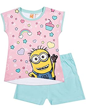 Minions Despicable Me Mädchen Shorty-Pyjama - rosa