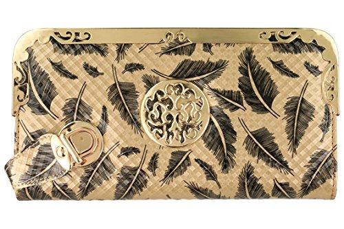 SkinOutfit Women's Wallet Clutch Golden