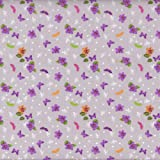100% Baumwolle Stoff | Papillon Mauve 'Fleur' Stoffbreite: