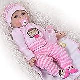 Neugeborenen Puppe Golden Mohair Reborn Baby-Puppen, dass Look echtes 55,9cm Weich Silikon Mädchen Babys lebensecht Kinder Geburtstag Xmas Geschenk