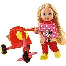 Minnie Mouse - Muñeca Evi love con triciclo (Simba 105746352)