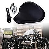 Motorrad Leder Solo Sitz mit 3