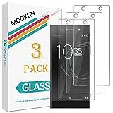 [3 Piezas] Sony Xperia XA1 Protector de Pantalla,MOOKLIN [Anti-Rasguños] Film Protector de Pantalla para Sony Xperia XA1 Cristal Vidrio Templado Premium