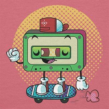 Texlab–Cool Cassette–sacchetto di stoffa Pink