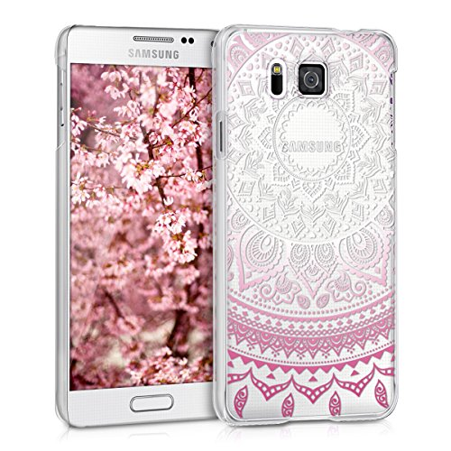 kwmobile Samsung Galaxy Alpha Hülle - Handyhülle für Samsung Galaxy Alpha - Handy Case in Pink Weiß Transparent