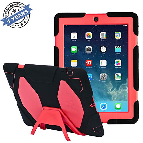 dspr iPad Fall * Neu * * Hot * Super Schützen [stoßfest] [Regendicht] [sanddicht] mit Integriertem Displayschutz für Apple iPad 2/3/4(Army/Grün) Dark Black/Red iPad 2/3/4 Case ()