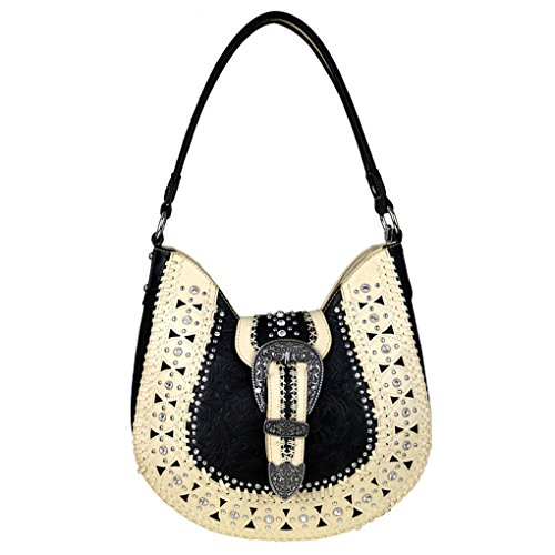 Montana West ,  Damen Hobo Bags , beige - Beige Lace Conceled Carry - Größe: One Size (Hobo Studded Leder Bag)