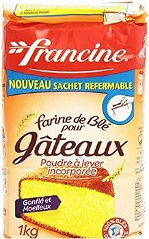Francine Farine de Blé Pour Gâteaux avec Poudre à Lever Incorporée 1 kg