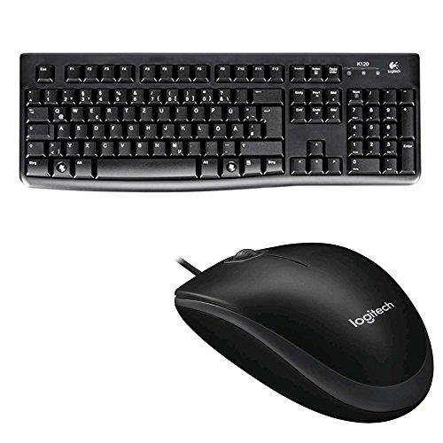 Logitech K120 Business Keyboard, QWERTZ, deutsches Layout (Tastatur | inkl. Maus, Schwarz)
