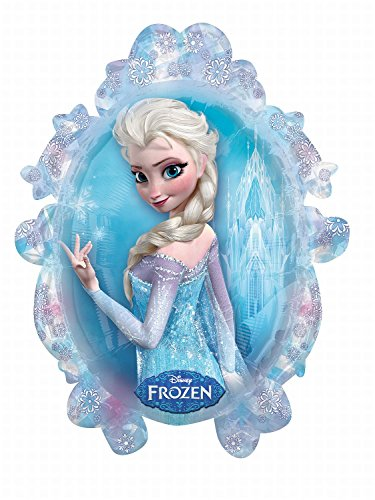 Anagram 2816201 - Party und Dekoration - Folienballon Super Shape - Disney Frozen - Elsa / Anna, circa 63 x 78 cm