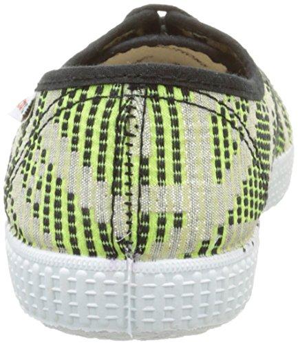 victoria Ingles Geometrico Lurex Unisex-Erwachsene Sneaker Grün - Vert (58 Lima)