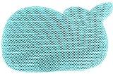 BBCare Wal geformte rutschfeste Badewannenmatte mit starken Saugnäpfen (Blau)