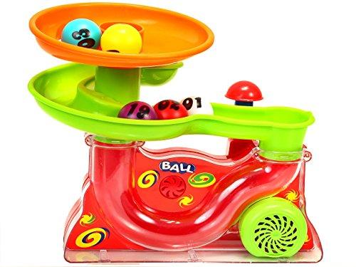 PREMIUM Wasserspiel mit bunten Kugeln - Luft Brunnen Wasserbrunnen Springbrunnen Fontäne Ball Tunnel Spiel für Kinder