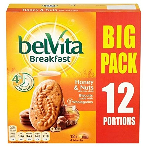 Kraft Belvita Miel & Big Pack Écrous 12 X 50G