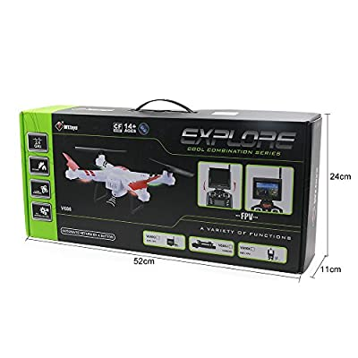 WLToys V686K 6-Axis Gyro 2.4G 4CH WIFI FPV Real-time Videos Return (Android and IOS compatible device) UFO RC Quadcopter with HD Camera + Headless Mode