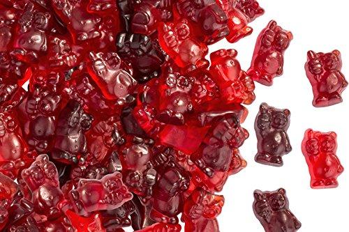 Fruchtsaft Tipp-Bär, Fruchtgummi mit 21% Fruchtsaft und Vitamin C, Gummibärchen, im 500g Beutel