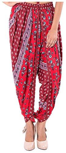Elegant Ethnic Floral Rayon Dhoti Pant, Patiala style Dhoti Salwar for Women,...