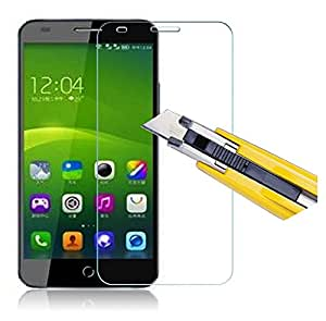 Plus 0.3mm Tempered Glass for Swipe Elite Plus [Cutout for Proximity Sensor], 0.3mm thickness, 9H Hardness, 2.5D Curved Edge, Reduce Fingerprint, No Rainbow, Bubble Free & Oil Stains Coating with Alcohol wet cloth pad & clean micro fibre Dry cloth,Premium Anti Explosion Tempered Glass Screen Protector for Swipe Elite Plus