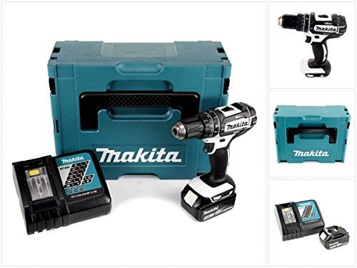 Preisvergleich Produktbild Makita DHP 482 ZW RF1J - 18 V Li-Ion Akku Schlagbohrschrauber im Makpac + 1x BL1830 3,0Ah Akku + DC 18 RC Schnellladegerät
