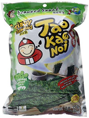 Taokaenoi Brand Seetangsnack knusprig, 6er Pack (6 x 32 g) (Japanische Lebensmittel)