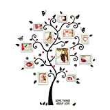 chendongdong Black Family Photo Frame Tree Butterfly Flower Heart Mural Wall Sticker Home Decor Room Decals
