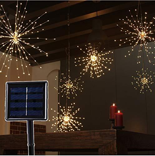 Solarleuchten Sterne Lichterketten Kupfer Sonnenkollektoren DIY Kinder feuerfeste Weihnachtsexplosion Hochzeit Lichter -