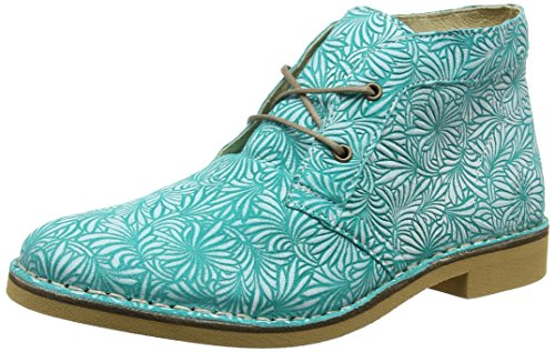 Femme Turquoise Boots London FLY Off Turquoise White Desert Czar933 Px4gwIqO