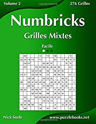 Numbricks Grilles Mixtes - Facile - Volume 2-276 Grilles