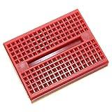 Gaoxing Tech. Mini tablero de prototipo sin soldadura 10pcs 170 puntos de empate para el rojo del escudo de Arduino