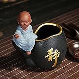 KEQB Lila Sand Tee-Zeremonie Sechs Gentlemen's Set Ebenholz Tee Produkte Zubehör, Mail, kreative kleine Mönch Tee Kunst Dekoration, Osa Aroku Gentleman