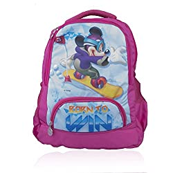 Disney School Bag For Boys 07+ Years Mickey Mouse Born To Win 37 (L) Blue (Dm-0097)