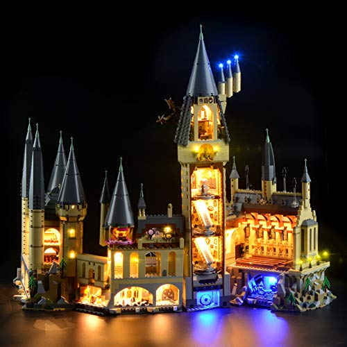 Conjunto de luces Lightailing para (Harry Potter Candado Hogwarts) Modelo de Construcción de Bloques - Kit de luz LED compatible con Lego 71043 (NO incluido en el modelo)