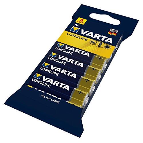 Varta Longlife Batterie AA Mignon Alkaline Batterien LR6-8er Pack (Alkaline-aa-batterien)