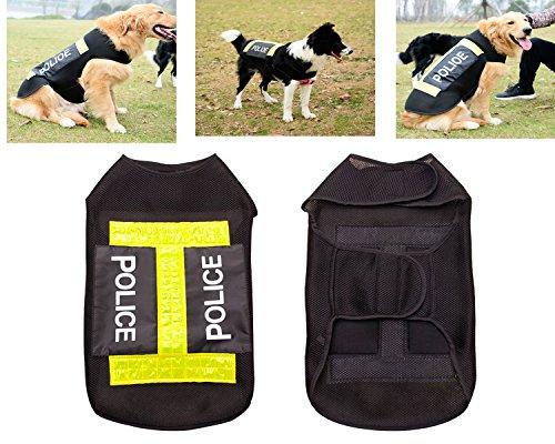 Spezielle Polizei Kostüm - MCdream Guard Hundeweste Polizei Kostüm Trainingshose