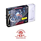 5 Klarsicht Schutzhüllen SUPER NINTENDO BIG BOX [5 x 0,5MM [ARMOURED] SNES BIG BOX OVP] Spiele Originalverpackung Passgenau Glasklar -