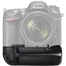 SAMTIAN BG-2N Empuñadura de batería para Nikon D7100 D7200 Sustitución para MB-D15 Trabajar con baterías EN-EL15 o 6 AA